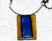 Layered Necklace made of Recycled Wine Bottles