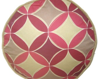 Ruby Geometric Pouffe Foot Rest Bean Bag fabric ottoman