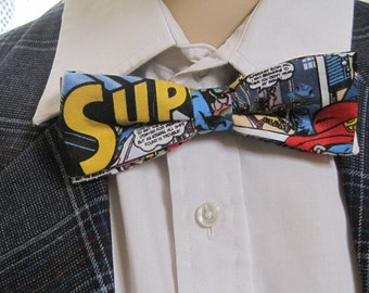 Superman Banded Bow Tie