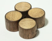 Set of 4  Walnut Guitar Knobs with Sycamore Inlay (13/16dia x 5/8h)