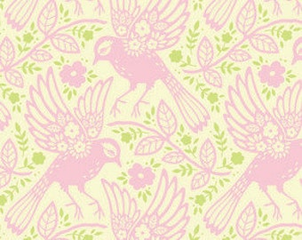 SALE!!! 1 yard..Meadowlark.. in pink...Up Parasol by Heather Bailey..