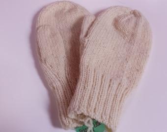 35% OFF SALE Adults Medium Handknit Wool Mittens