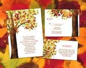 Watercolor Tree - Printable Wedding Invitation Suite - Summer, Spring, Autumn