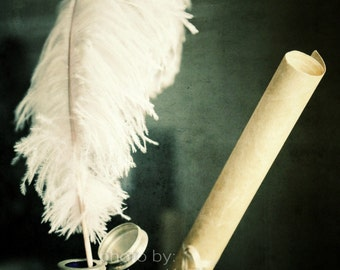 5x7 Harry Potter Inspired Quill and Scroll Photo