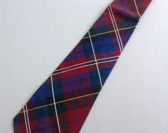 Vintage 1950 Tie.  Beautiful Plaid Manhattan Necktie.  Mod, Eames era, Mad Men, Beatles, Rockabilly.