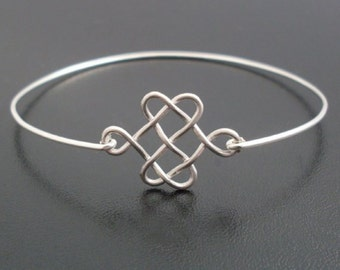 Celtic Knot Bracelet, Silver Knot Bracelet Bangle, Celtic Knot Jewelry, Celtic Jewelry, Scottish Jewelry, Scottish Bracelet, Celtic Bracelet