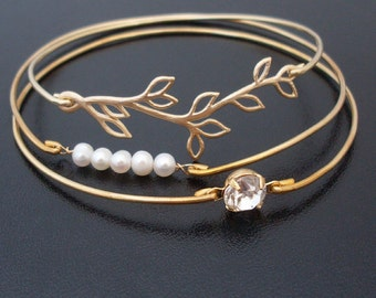 Pearl Bridesmaid Jewelry Set, Pearl Bridesmaid Bracelet, Pearl Wedding Jewelry, Bridesmaid Pearl Jewelry Set, Bridesmaid Pearl Bracelet