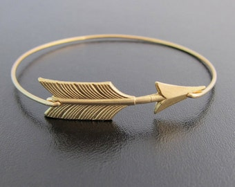 Gold Arrow Bracelet, Arrow Bangle Bracelet, Arrow Jewelry, Gold Stack Bangle Bracelet, Gold Stack Bracelet
