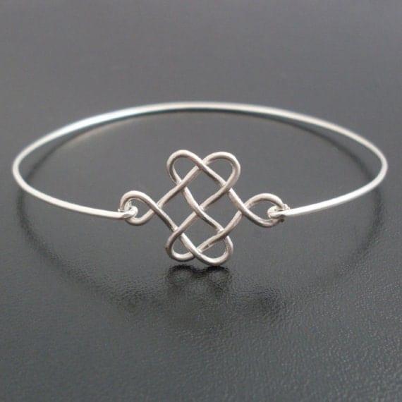 Celtic Knot Bracelet, Silver Knot Bracelet Bangle, Celtic Knot Jewelry, Celtic Jewelry, Scottish Bracelet, Scottish Jewelry, Celtic Bracelet
