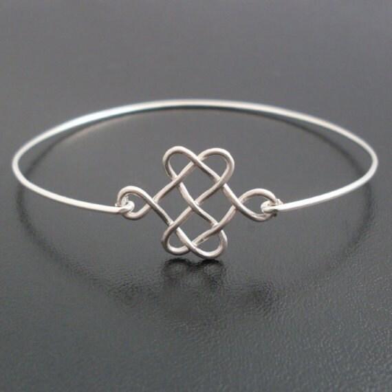celtic knot bracelet silver knot bracelet bangle celtic knot. Black Bedroom Furniture Sets. Home Design Ideas
