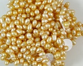 Freshwater Apricot Pearl Drop Beads 60% off, qty 90