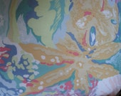 Pale Pastels Handmade Decorative Pillow Seashells, Coral, Starfish