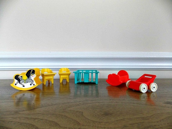 Fisher Price Little People Baby Furniture 1970s Furniture