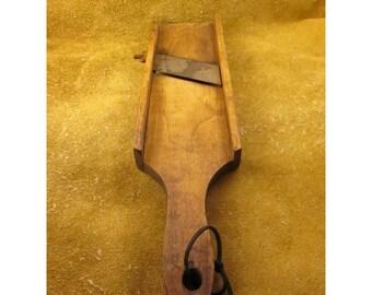 French Mandoline Vegetable Slicer – Wood with Metal Blade Food Slicer - Vintage Kitchen