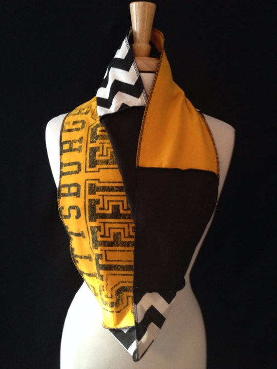pittsburgh steelers infinity scarf by poshfans on etsy