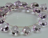 Sale -AAA Pink Amethyst Briolettes Micro Faceted Pink Amethyst Diamond Shape Briolette Beads