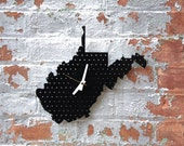 Items Similar To Laser Cut West Virginia Wall Clock On Etsy