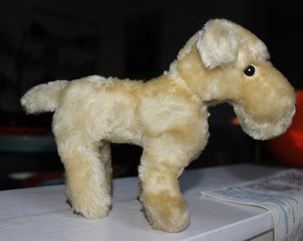 Scotty Stuffed Toy Dog Terrier Antique mohair So Cute VINTAGE by Plantdreaming