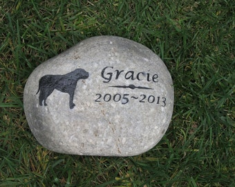 Dog Memorial Stone Personalized Mastiff & Other Dog Breeds 9 - 10 Inches Memorial Burial Stone Grave Marker