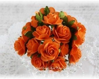 Mulberry Roses~Tangelo~ Set of 20 for Scrapbooking, Cardmaking, Altered Art, Wedding, Mini Album