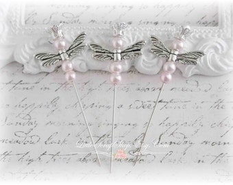 Dragonfly Stick Pins Light Pink Scrapbooking, Cardmaking, Mini Albums, Wearables