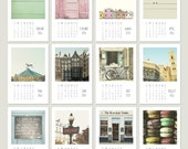 2014 Calendar - Aylorelai 4x6 Desk Calendar - Photography Monthly Calendar - Fine Art Mini Photo Collection
