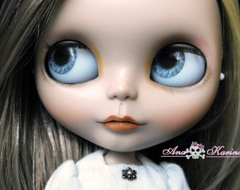Blythe eye chips OOAK REALISTIC custom set D4, by Ana Karina. UV laminated