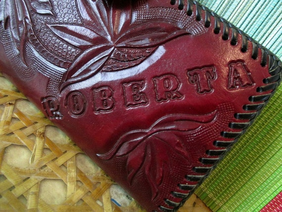 Roberta's Leather Tooled Wallet