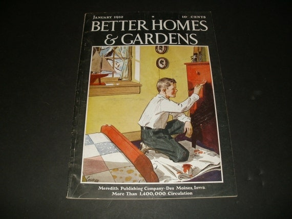 Items Similar To Vintage Better Homes And Gardens Magazine