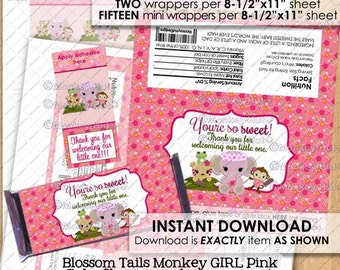 Nursery Rhyme Baby Shower Popcorn Wrapper / Ready to by ...