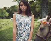 Pears and Flowers Lace Insert Dress