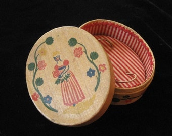"Shulton ""Early American"" Old Spice Balsa Wood Perfume Box, 1930's"