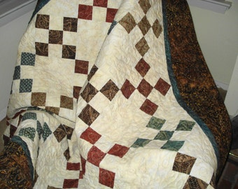 Handmade patchwork Quilt Autumn Colors Lap Quilt