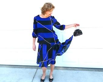 20s Flapper dress I. Magnin Vintage Ires Silk Roaring Party Large