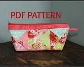 Bubble Punch Zipper Pouch - Cosmetic Bag / Pencil Case / Anything Bag - PDF Pattern