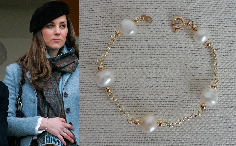 kate middleton pearls by the yard bracelet b385 by