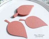 200 Paper Apple Leaf -Leaves- 3.25 inch- Coral, Salmon Wedding - Place Card, Escort Card, Die Cut Tags