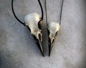 Raven Skull Duo: Bird Skull Necklace Set (Save 6%) Zombie Gift