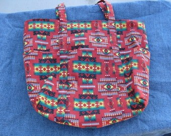 Tucson Tierra Cota Tote Bag with Pockets