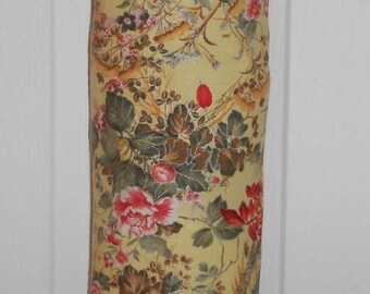 Bag Stuffer - Plastic Bag Holder - Yellow Floral Shabby Chic- FREE SHIPPING