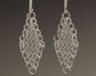 Sterling Silver Mesh Earrings - size 6