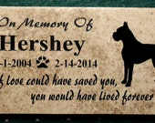 Boxer Memorial Plaque 12x6 Maintenace free - Includes shipping