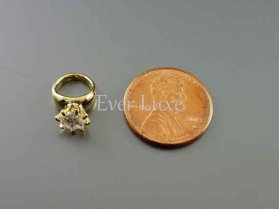 2 small 3d engagement ring charms