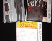 3 Men's Costume Patterns - Pirate, Civil War and Renaissance in ALL Sizes