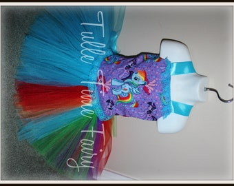 My Little Pony Rainbow Dash  birthday corset  tutu dress any size 12m 18m 2t 3t 4t 5t 6 7 8