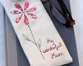 Personalised Glasses Case Flower