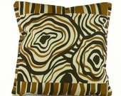 "STUDIO CLEARANCE SALE *** BullsEye 18""x18"" pillow - Hand silkscreened textiles"