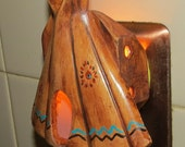 Indian Tee Pee, Night Light, made in the USA, nite light