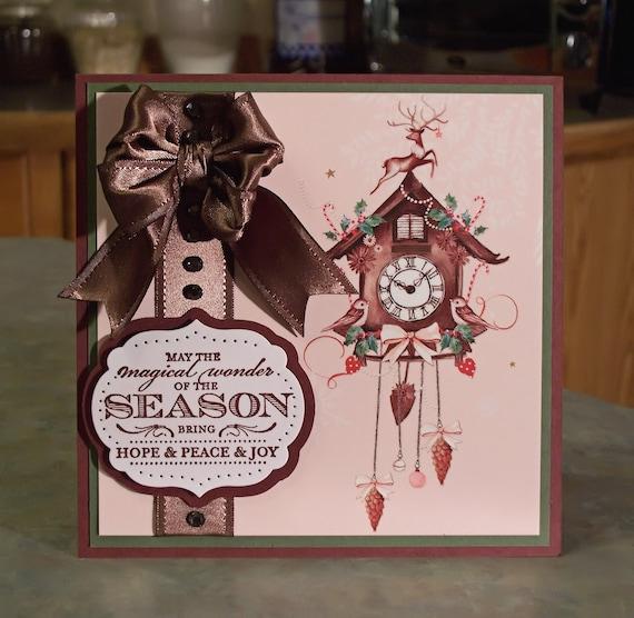 Handmade Christmas Card - Stampin' Up Magical Season - Cuckoo Clock & Partridges