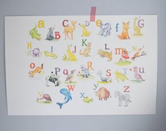 "Watercolor Print ""Alphabet"""